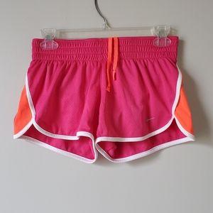 NIKE   Pink & Orange Drawstring Shorts   sz S